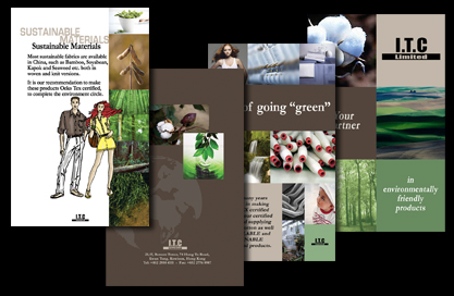 Brochure about producing Environmentally friendly cloth